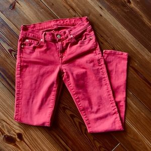 7 For All Mankind Skinny Jeans in Red
